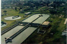 A large wastewater treatment plant